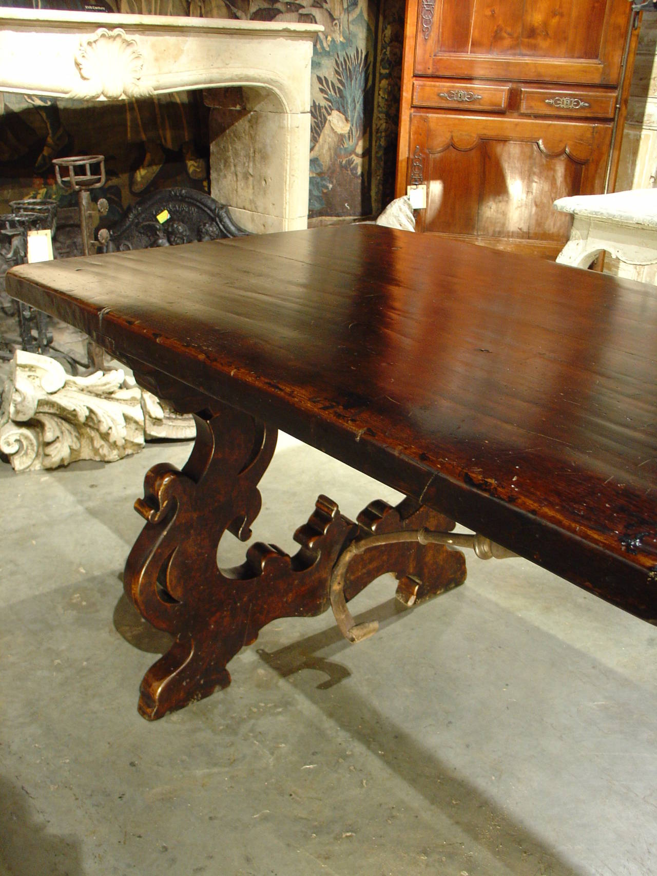 Antique Tuscan Walnut Wood Dining Table At 1stdibs