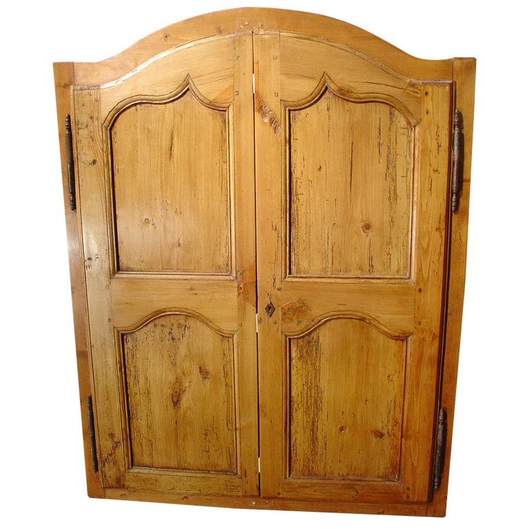 Exceptionnel Pair Of Small, Framed French Cabinet Doors, Late 1800u0027s For Sale