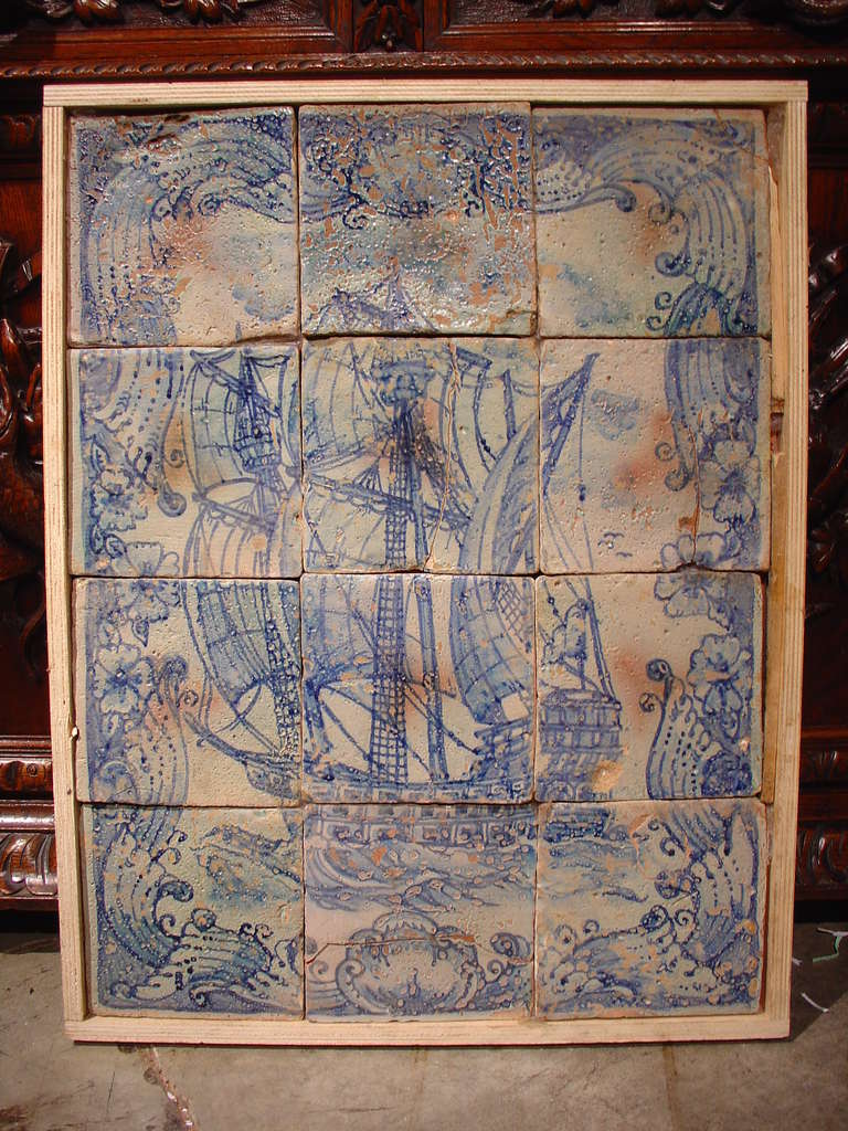 Antique Italian Tiled Plaque Sicily Circa 1800 At 1stdibs