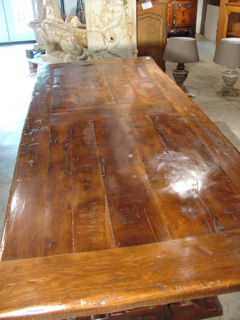 Hand Carved Oak Dining Table From France Quot Pressoir A Vin