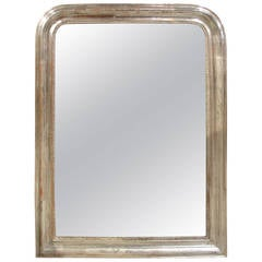 Antique Silver Leaf Louis Philippe Mirror from France, 19th Century