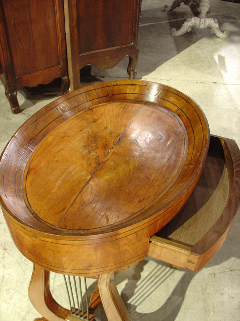 This antique french cherry side table is no longer available - Antique Lyre Shaped Side Table From France Late 1800 S At
