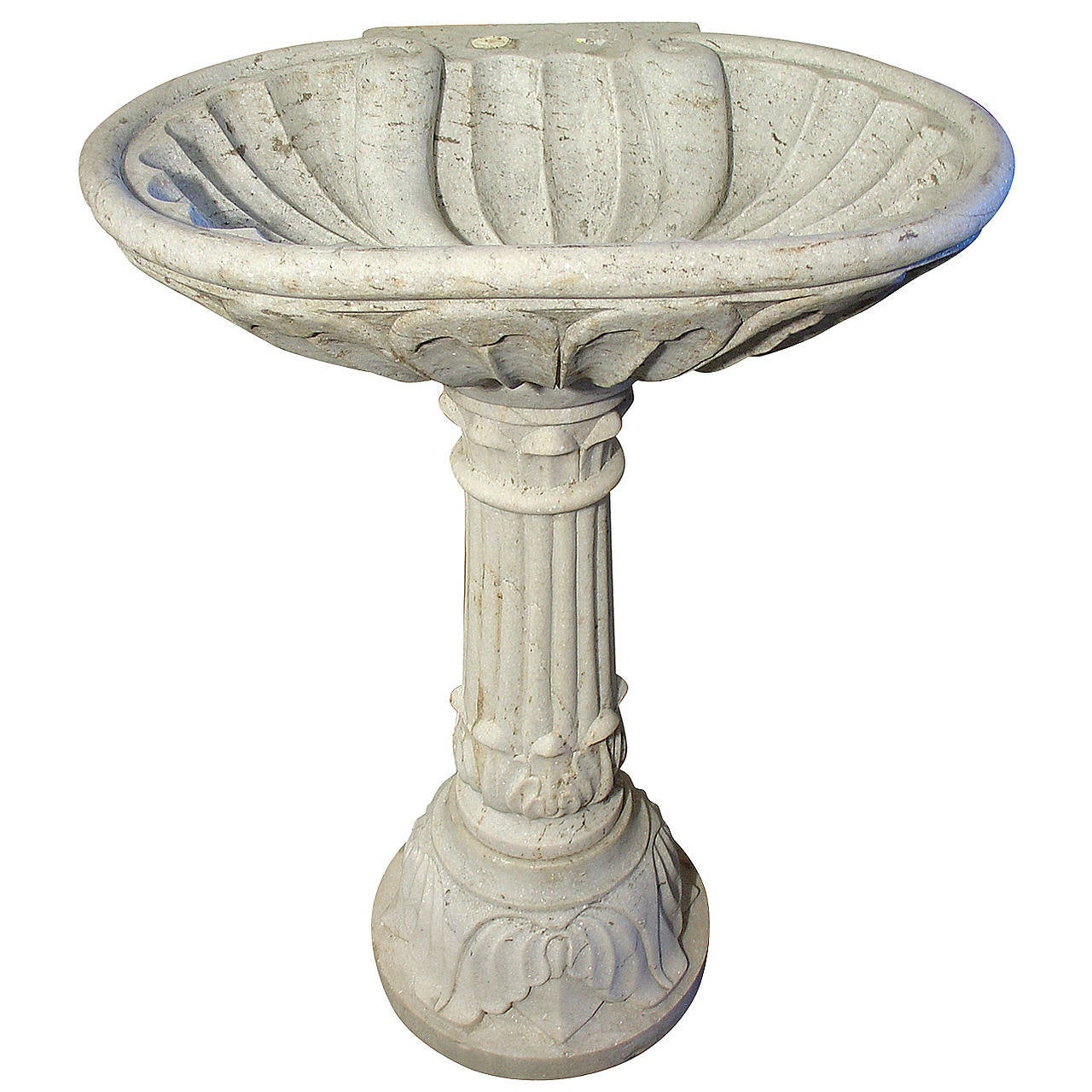 Stone Pedestal Sink : Antique Marble Pedestal Sink from France, Circa 1900 at 1stdibs