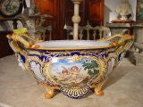 Antique French Jardiniere From Nevers, France 1800's image 10