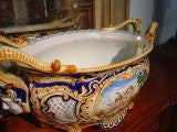 Antique French Jardiniere From Nevers, France 1800's image 2