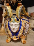 Antique French Jardiniere From Nevers, France 1800's image 3