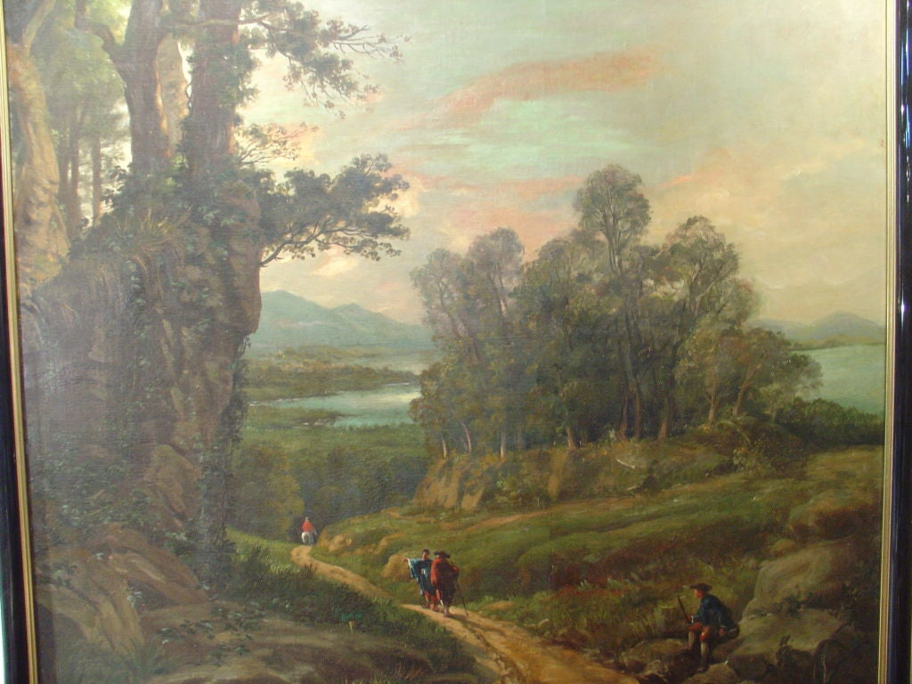 Autumn Decorations Home Antique French Landscape Oil Painting At 1stdibs