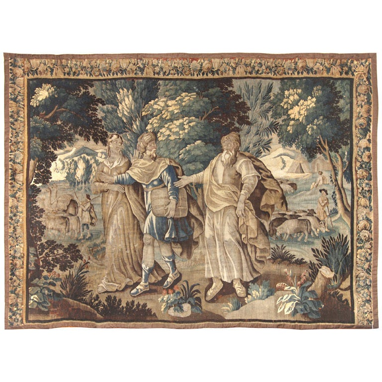 Antique Tapestry From Flanders-First Half 18th Century