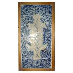 18th Century Hand Painted Portuguese Tile Plaque