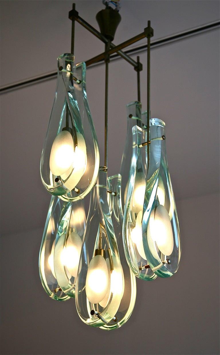 rare chandelier by max ingrand for fontana arte at 1stdibs. Black Bedroom Furniture Sets. Home Design Ideas