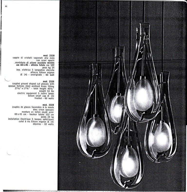 Rare Chandelier by Max Ingrand for Fontana Arte image 7