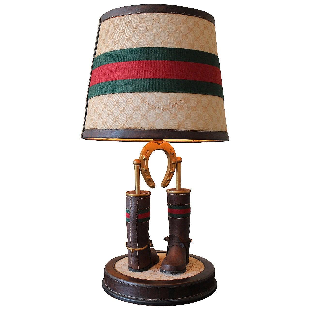rare table lamp by gucci at 1stdibs
