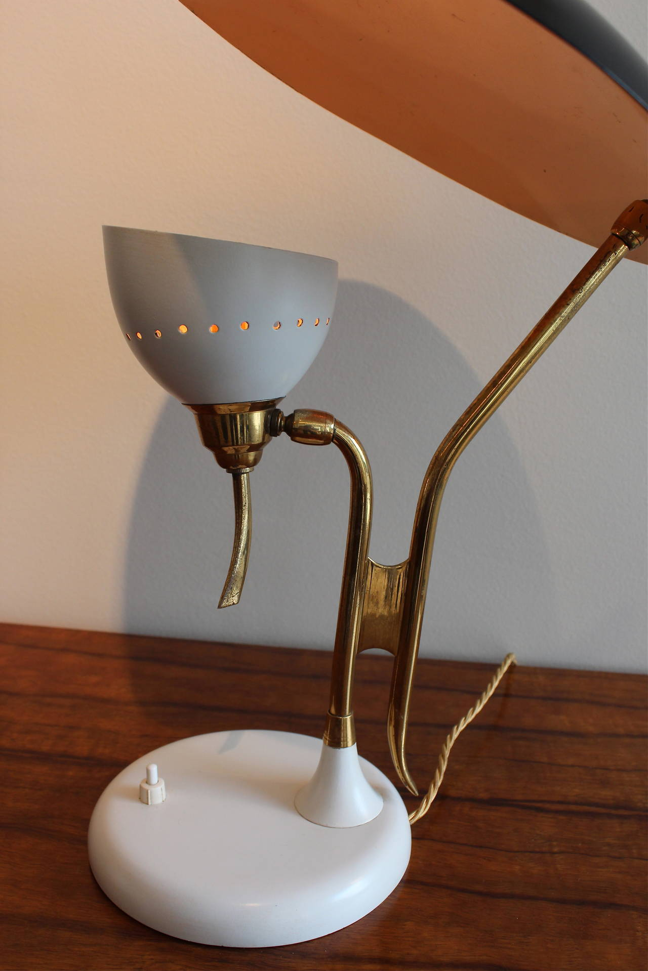 Mid-20th Century Table Lamp by Lumen For Sale