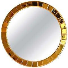 Circular Mirror by Cristal Arte