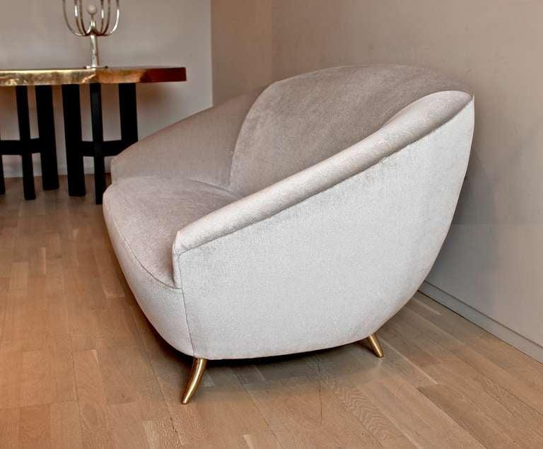 Italian Curved Sofa At 1stdibs