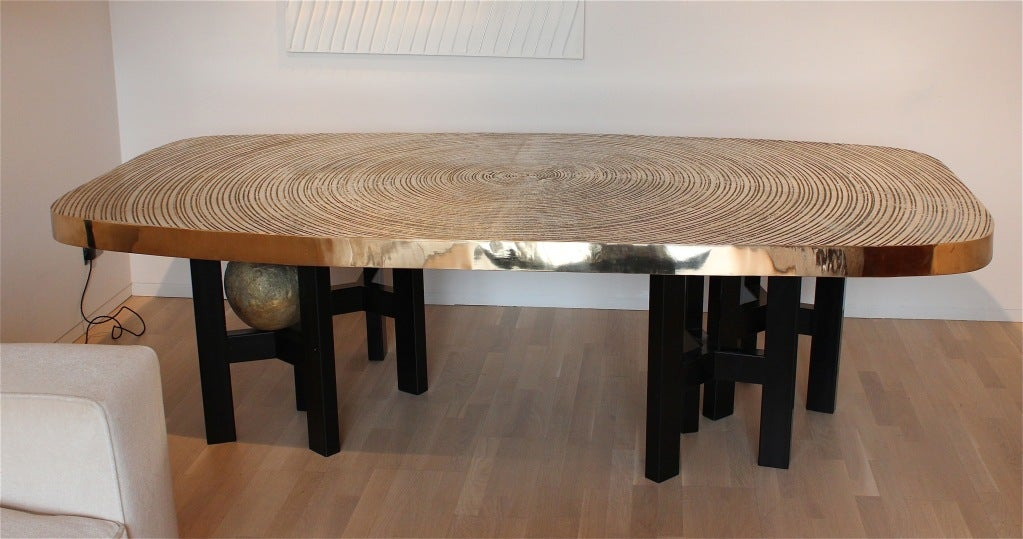 Bronze dining table by ado chale at stdibs