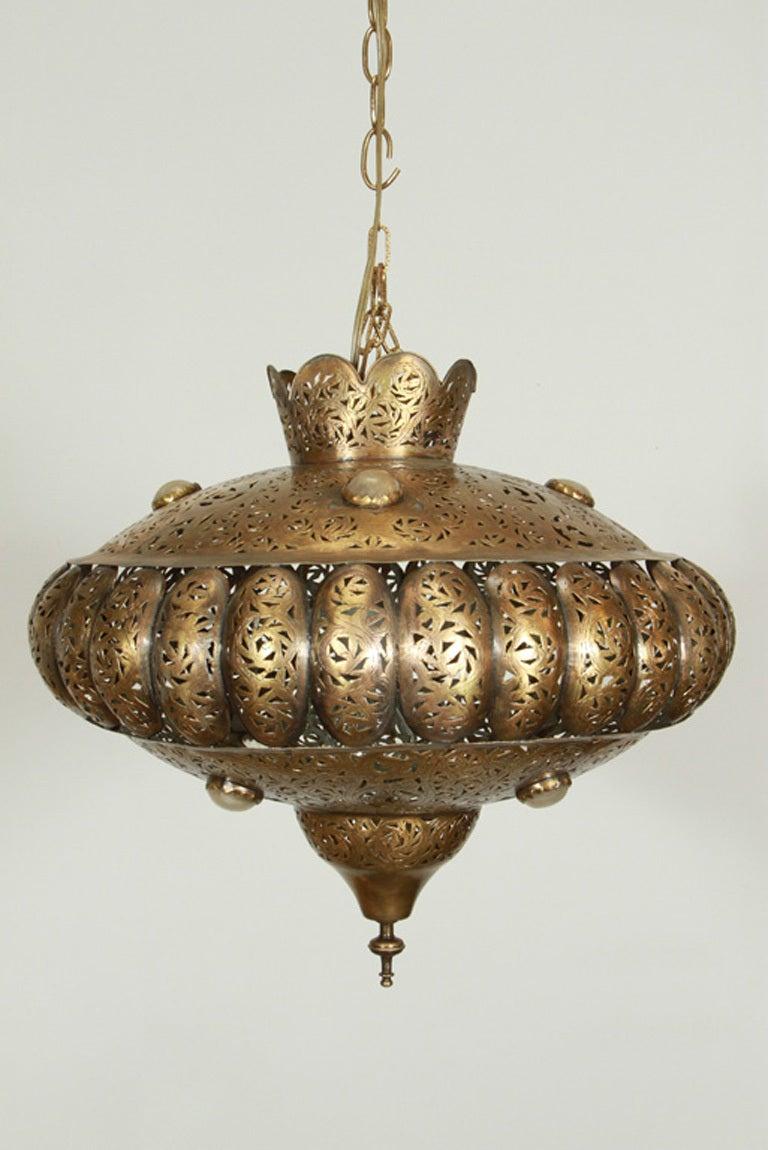 Moroccan Brass Pendants in Alberto Pinto Style / Pair 3
