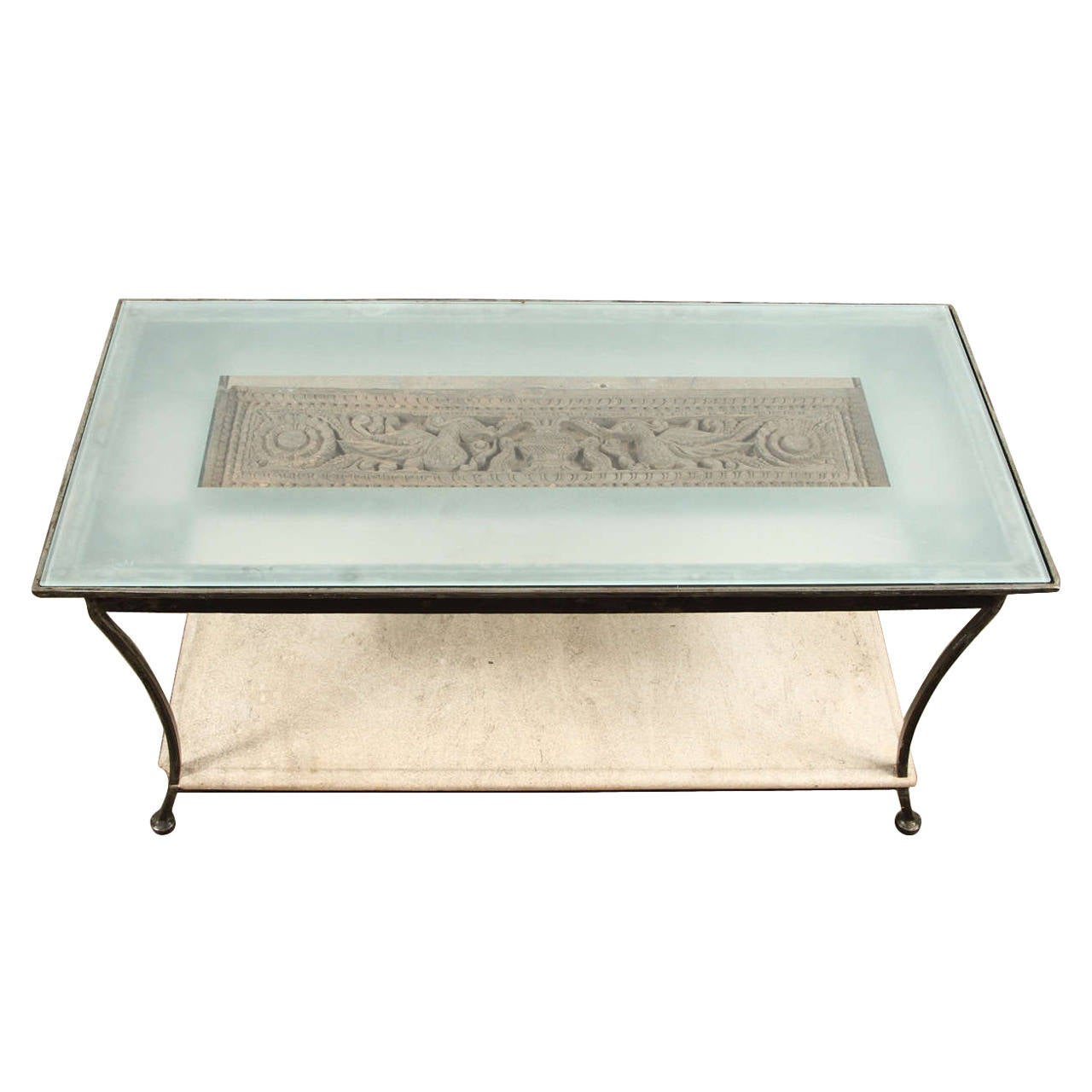 Chinese Relief Coffee Table: Asian Architectural Relief Made Into A Coffee Table For