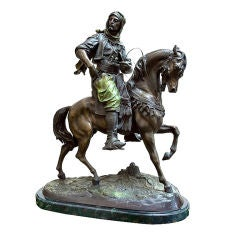 Orientalist Bronze of Arab on Horseback