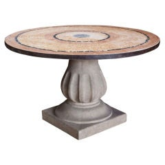 Moroccan Marble and Stone Mosaic Table, Indoor or Outdoor