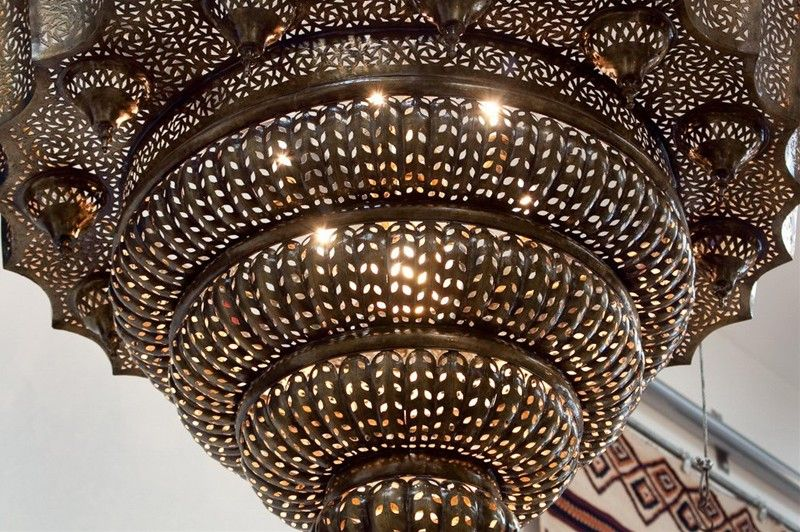 Monumental 6 Moroccan Intricate Chandelier At 1stdibs