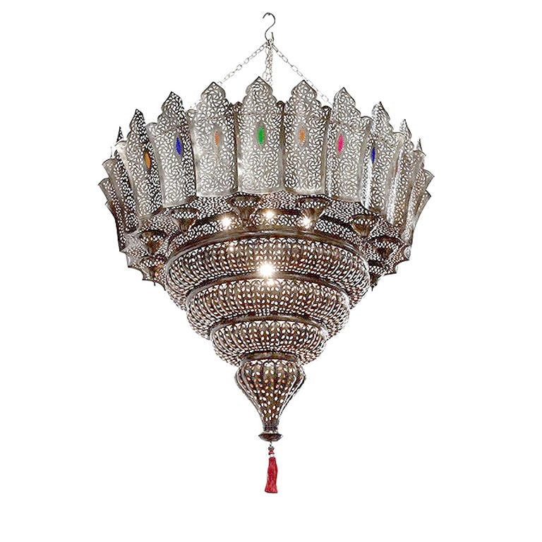 Monumental 6 39 moroccan intricate chandelier at 1stdibs - Moorish chandelier ...