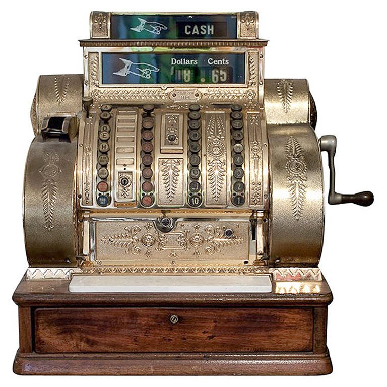 Antique American National Cash Register At 1stdibs