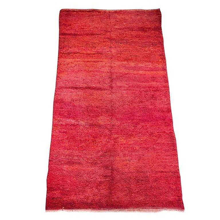 """Vintage Moroccan Red Tribal Rug """" Bed Of Roses"""" For Sale"""
