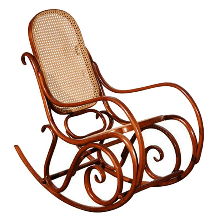 thonet bentwood rocking chair at 1stdibs. Black Bedroom Furniture Sets. Home Design Ideas