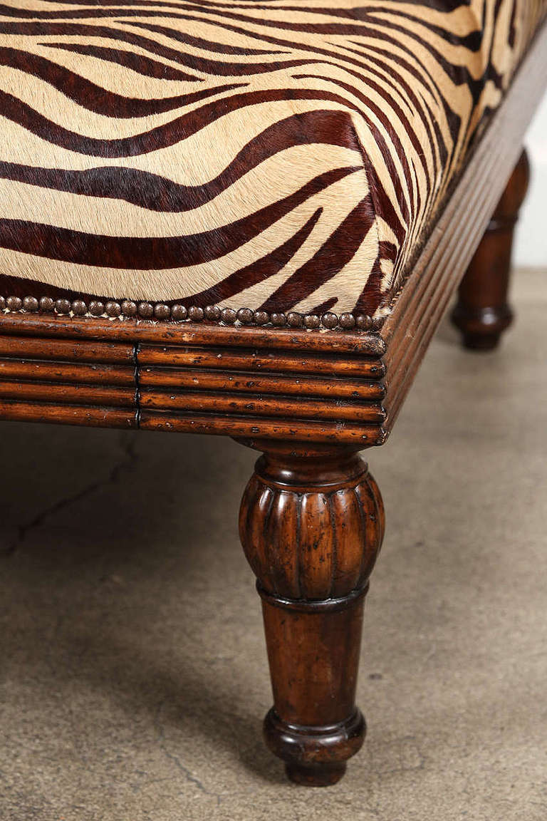 Coffee Table Ottoman In Leather Hide At 1stdibs