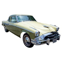 Studebaker President 1955, Collector Car Yellow and Lime Green