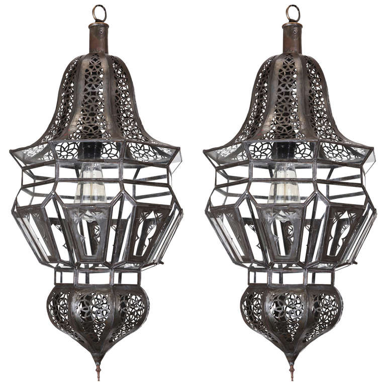 Pair Of Moroccan Moorish Hanging Pendant Lights For At 1stdibs