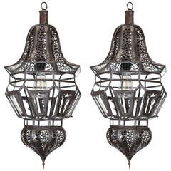Pair of Moroccan Moorish Hanging Pendant Lights