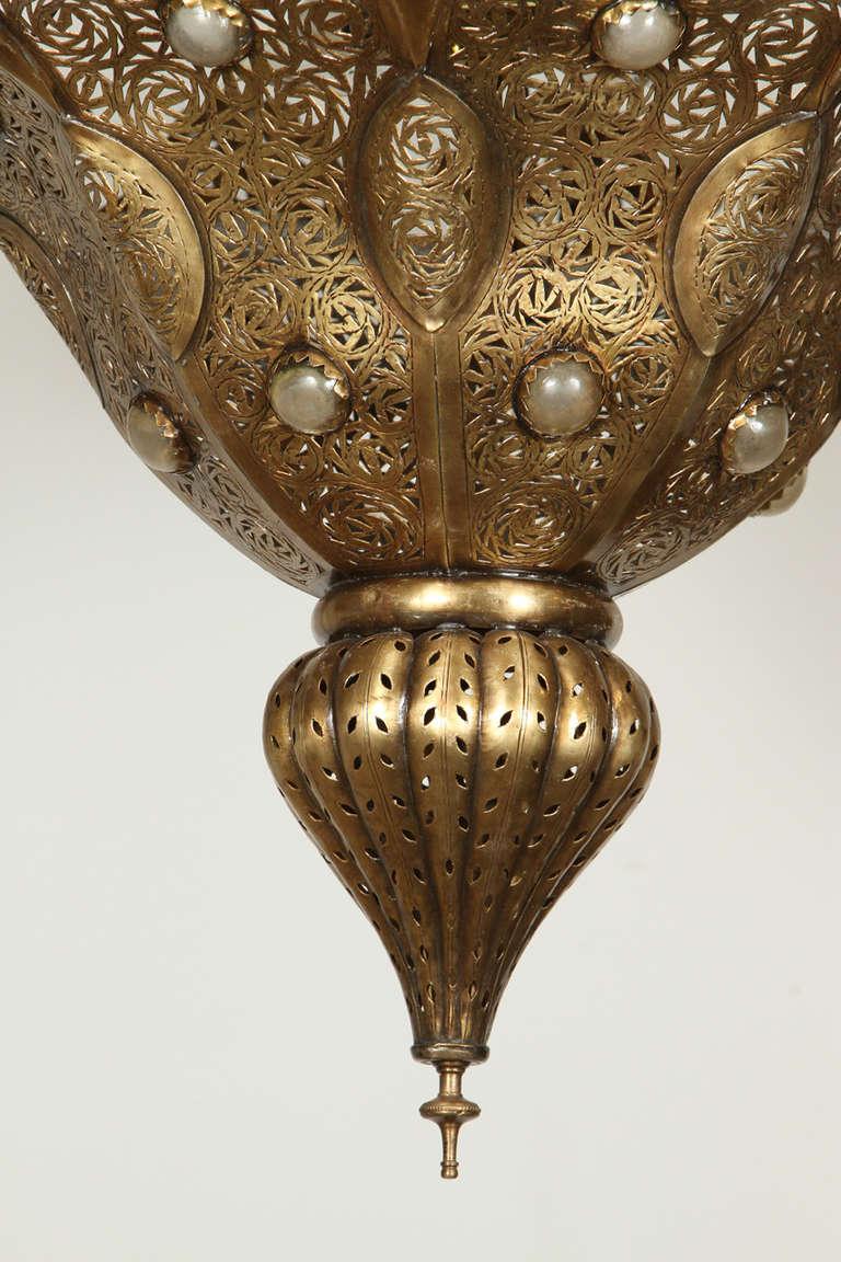 Moroccan Moorish Brass Chandelier Pasha At 1stdibs
