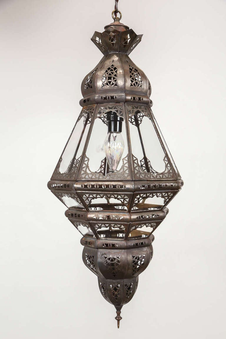 moroccan clear glass lantern 3