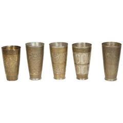 Middle Eastern Engraved Beakers