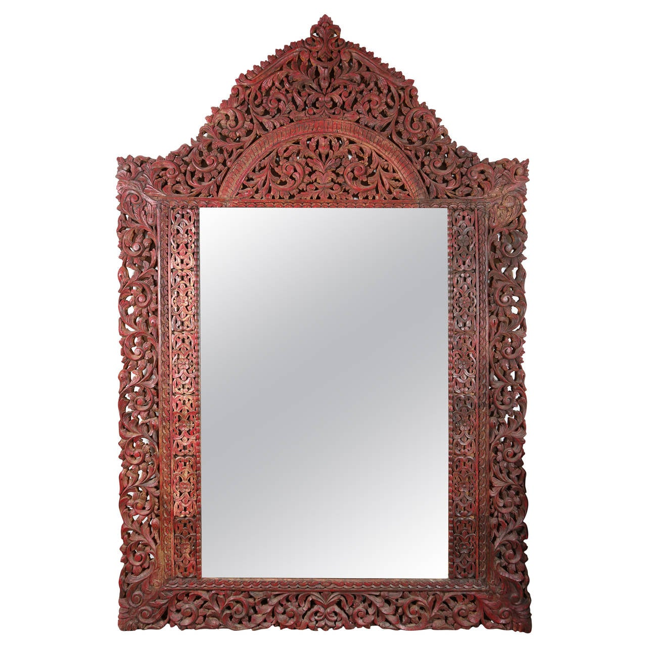 "9' 8"" Giant Anglo-Indian Mirror at 1stdibs"