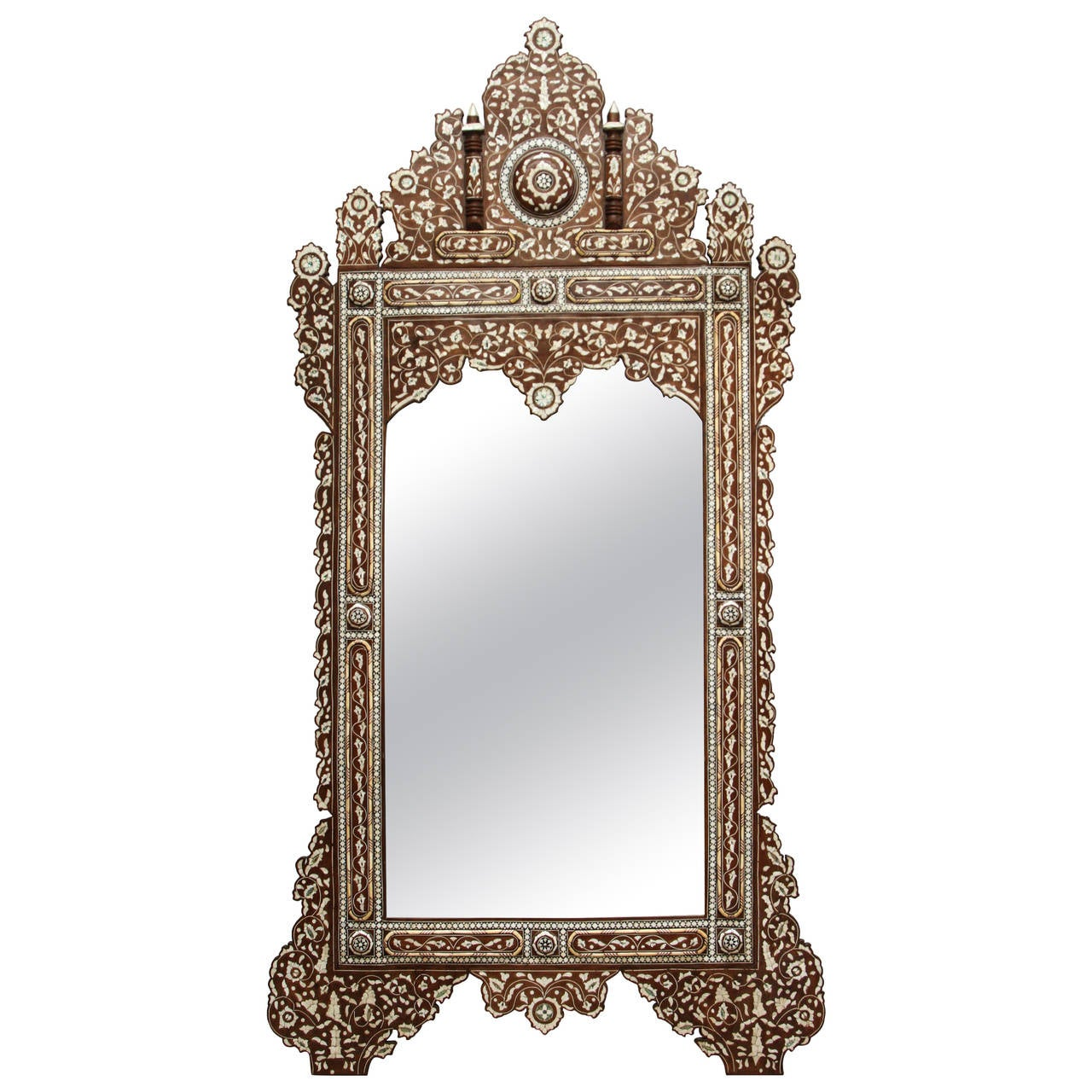 Palatial oversized syrian mother of pearl inlaid mirror at for Oversized mirror
