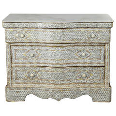 Syrian Mother of Pearl Inlay Chest of Drawers