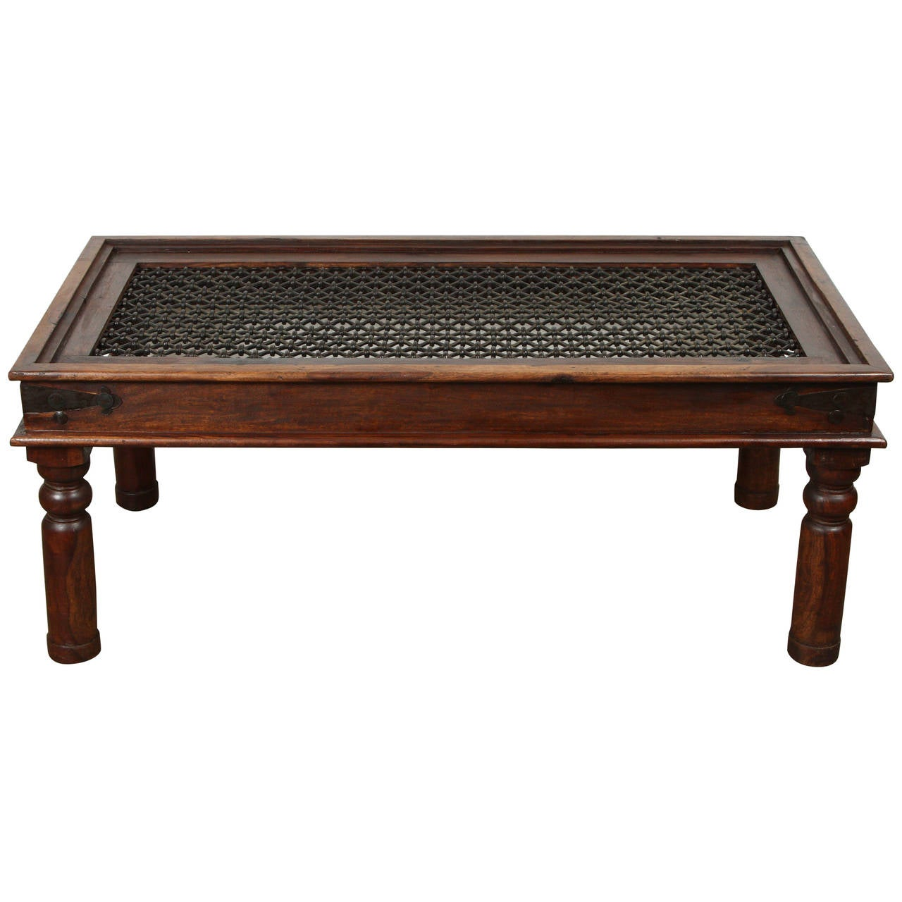 Spanish Style Coffee Table With Iron At 1stdibs