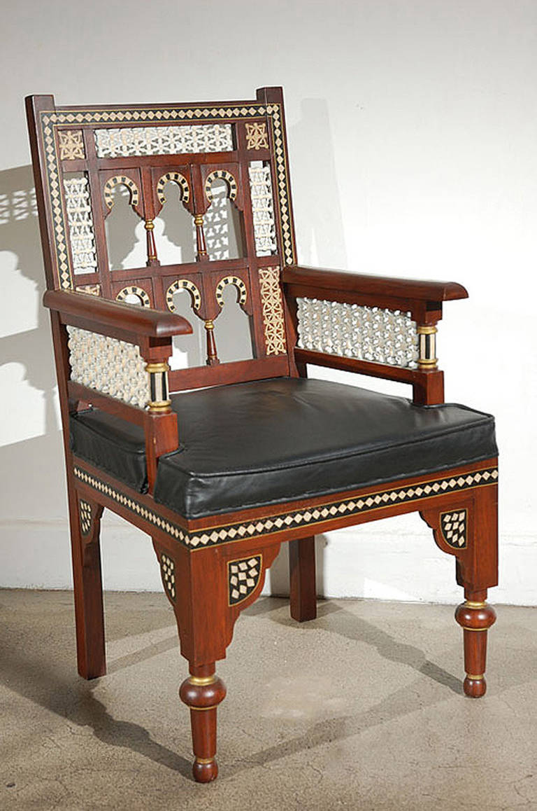 Pair Of Moroccan Moorish Armchairs 2