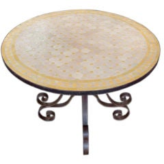 Mosaic Round Tile Table,  Indoor or Outdoor use