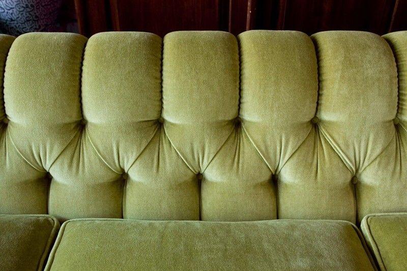 9 feet custom vintage sofa 1970's in the manner of Milo Baughman 3