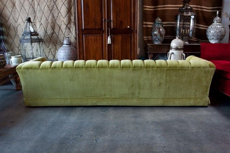 9 feet custom vintage sofa 1970's in the manner of Milo Baughman 6