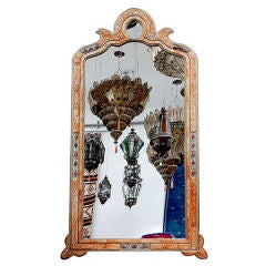EXTRA LARGE MOROCCAN MIRROR BONE AND METAL FILIGREE