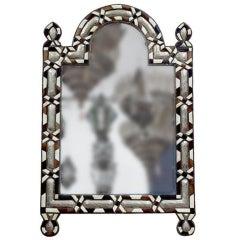Moroccan Mirror inlaid with ebony bone and silver