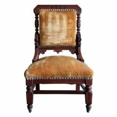 Anglo Indian Style Library or Fireplace  Side Chair