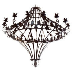 Giant Wrought Iron Spanish Revival Chandelier