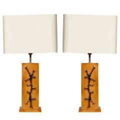 Pair of Lamps by Robert Phandeve