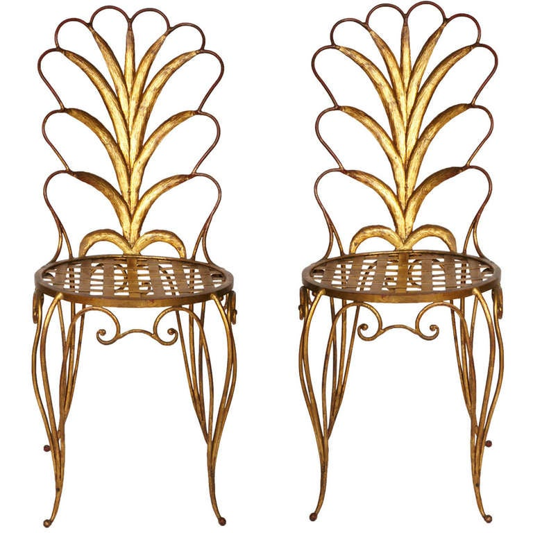 Pair of Chairs by René Drouet For Sale 4